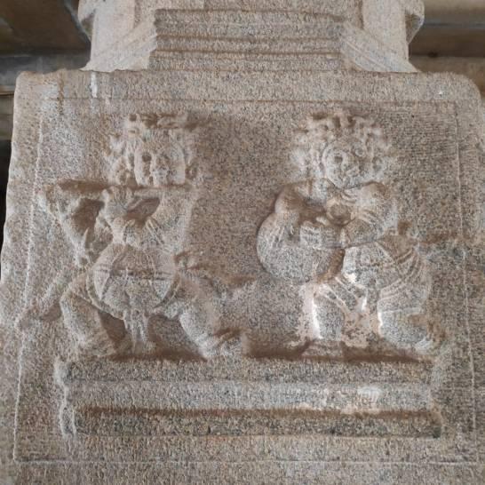 Carving on the pillar of Krishna Temple